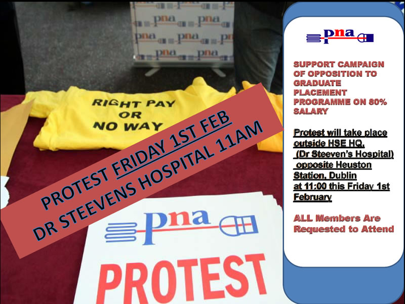 NURSE GRADUATE PROGRAMME PROTEST DR STEEVENS HOSPITAL FRI FEB 1ST